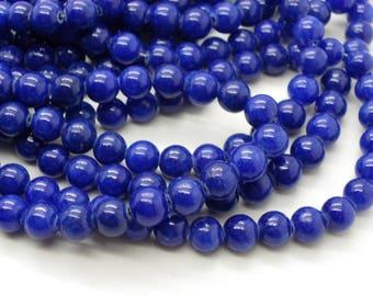 50 jade 8 mm round blue bracelets