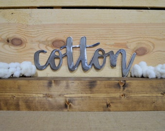 Cotton Metal Sign