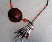 Freddy Krueger hat and blade glove necklace Nightmare on Elm Street Goth Horror Gothic Scary Movie