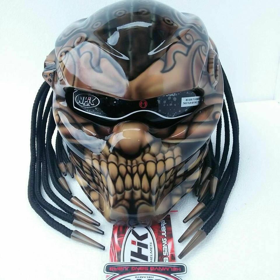 Benutzerdefinierte Samurai Predator echtes Motorradhelm