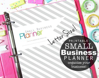 Small Business Planner, Printable Pages, Inserts - Etsy Shop, Online Sellers, Direct Sales, Letter Size