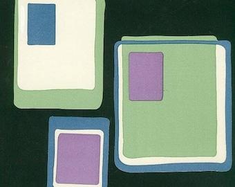 Lot 3 décos en papier peint Wallies carreaux