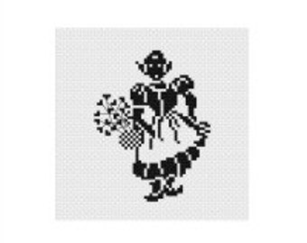 Flower Girl PDF Pattern, Instant Download, Cross Stitch Pattern, PDF Pattern, Digital Download, Easy Cross Stitch