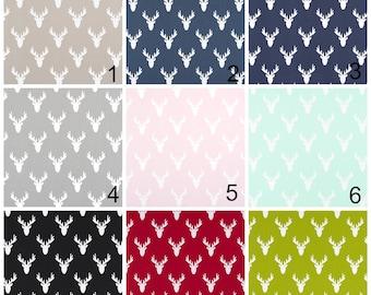 Antlers Curtain, Pair of Rod Pocket Panels, Premier Prints Antlers Stag Deer Elk Woodland - Choose Color and Size