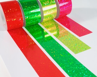 Neon Sequin Tape // Single Roll // Craft Tape for Scrapbooking and Packaging