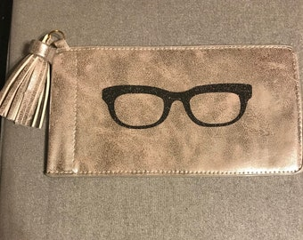 Sunglasses case with tassle