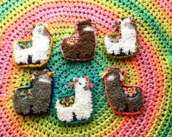 HandEmbroidered groovie llama pin