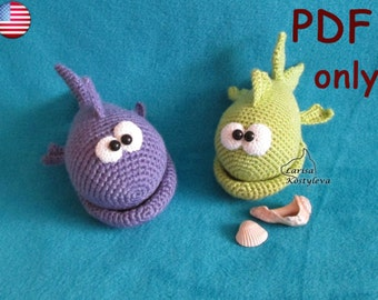 Crochet pattern- Mister Fish amigurumi sea animal (English)