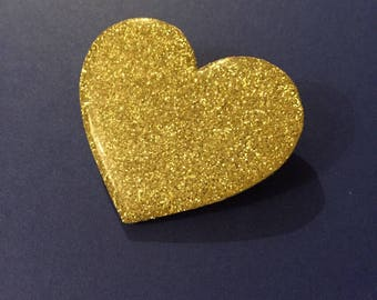 "brooch ""Golden Heart"""
