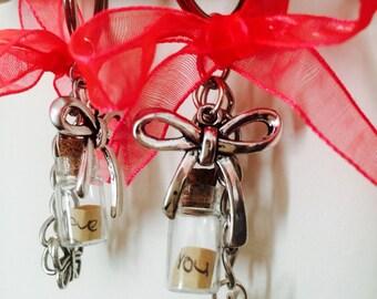 Message in a bottle key chain.