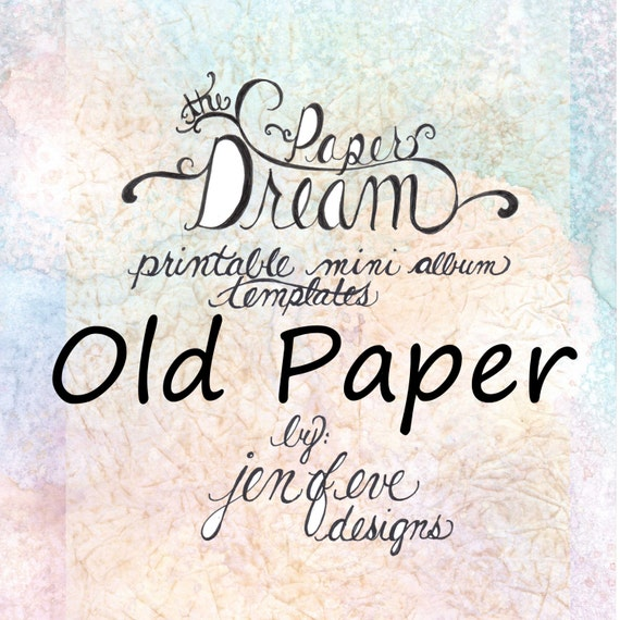 The Paper Dream Printable Mini Album Templates in Old Paper and Plain