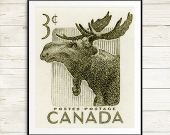 Canada poster, Canadian posters, moose art, moose print, moose wall art, canada prints, canadian art, Toronto, Ottawa, Montreal, Vancouver