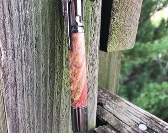 Rifle clip Bolt Action Pen, Handcrafted hardwood, Gun metal Finish, Ballpoint