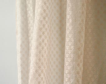 Vintage Pink Lace Curtains, Pair of Blush Curtains, Lace Curtains
