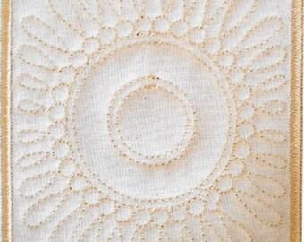 Trapunto Quilt Block Machine Embroidery Design- block08