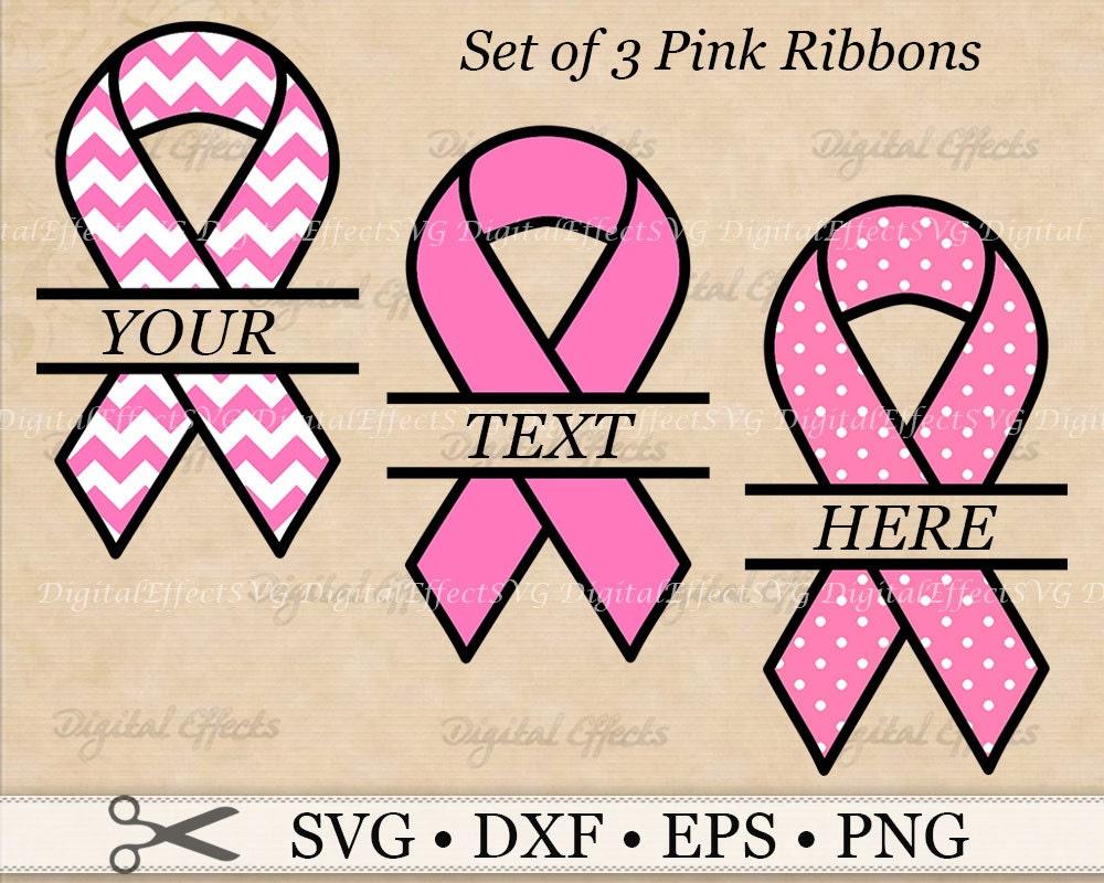 Breast cancer awareness ribbon split monogram svg png eps zoom biocorpaavc