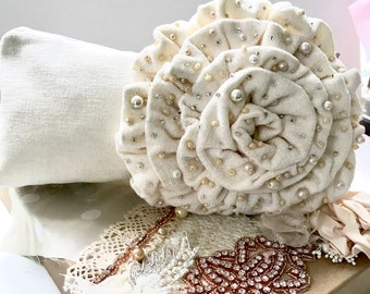 Wedding Clutch, Ivory Beaded Clutch, Ivory Pearl Clutch