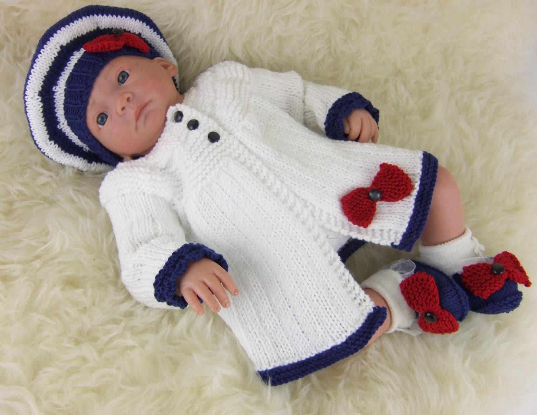 Baby Knitting Pattern Girls Sweater Set Download PDF