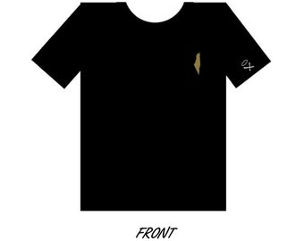 Gold Palestine Map Tee