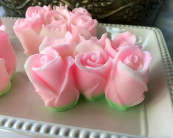 Rosebud Soap - Baby Rose Handcrafted Glycerin Soap - Decorative Soap - Valentines Day Soap - Mothers Day Soap