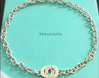 Tiffany & Co. 1837 Interlocking Circle Clasp Necklace