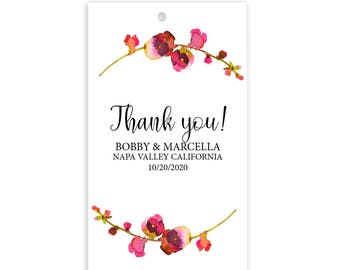 Thank You Wedding Favor Tags, Personalized Wedding Gift Tags, Wedding Custom Gift Tags t9
