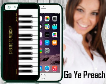 Created to Worship Piano Case Bible Verse Scripture iPhone case 4/4s 5/5s 5c 6 & Samsung Galaxy case s3 s4 s5 Faith iPhone Cover