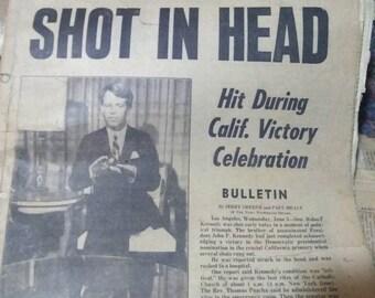 Kennedy shot! Newspaper
