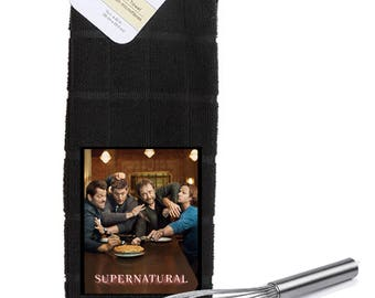 Supernatural Jensen Jared Casteil  Kitchen Towel