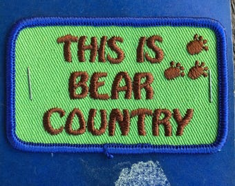 LAST ONE! This is Bear Country Vintage Souvenir Travel Patch from Andre Patches