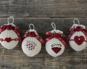 Country chic Christmas Balls