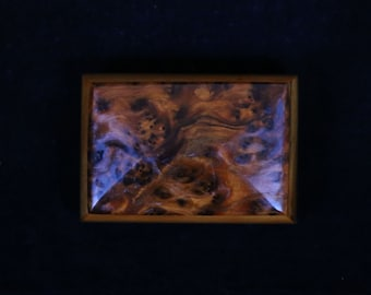 Hand made Burl timber jewellery box