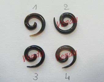 Pretty spiral Horn not drilled, 2 cm