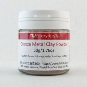 Bronze Metal Clay Powder 50g, Jewellery Making Craft Supply, Bonschelle brand