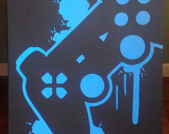 PlayStation Video Game Controller Art