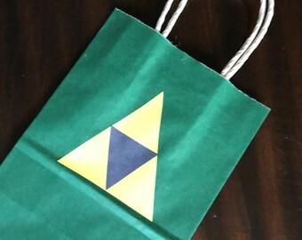 Legend of Zelda favor bags | Zelda | Zelda party | Legend of Zelda goodie bags | Zelda treat bags | Tri force | Link
