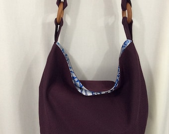 Extra Large Slouchy Bag, Large Crossbody Bag, Slouch Hobo, Diaper BAG, Work Purse, Sling BAG, Shopping BAG,  Purple