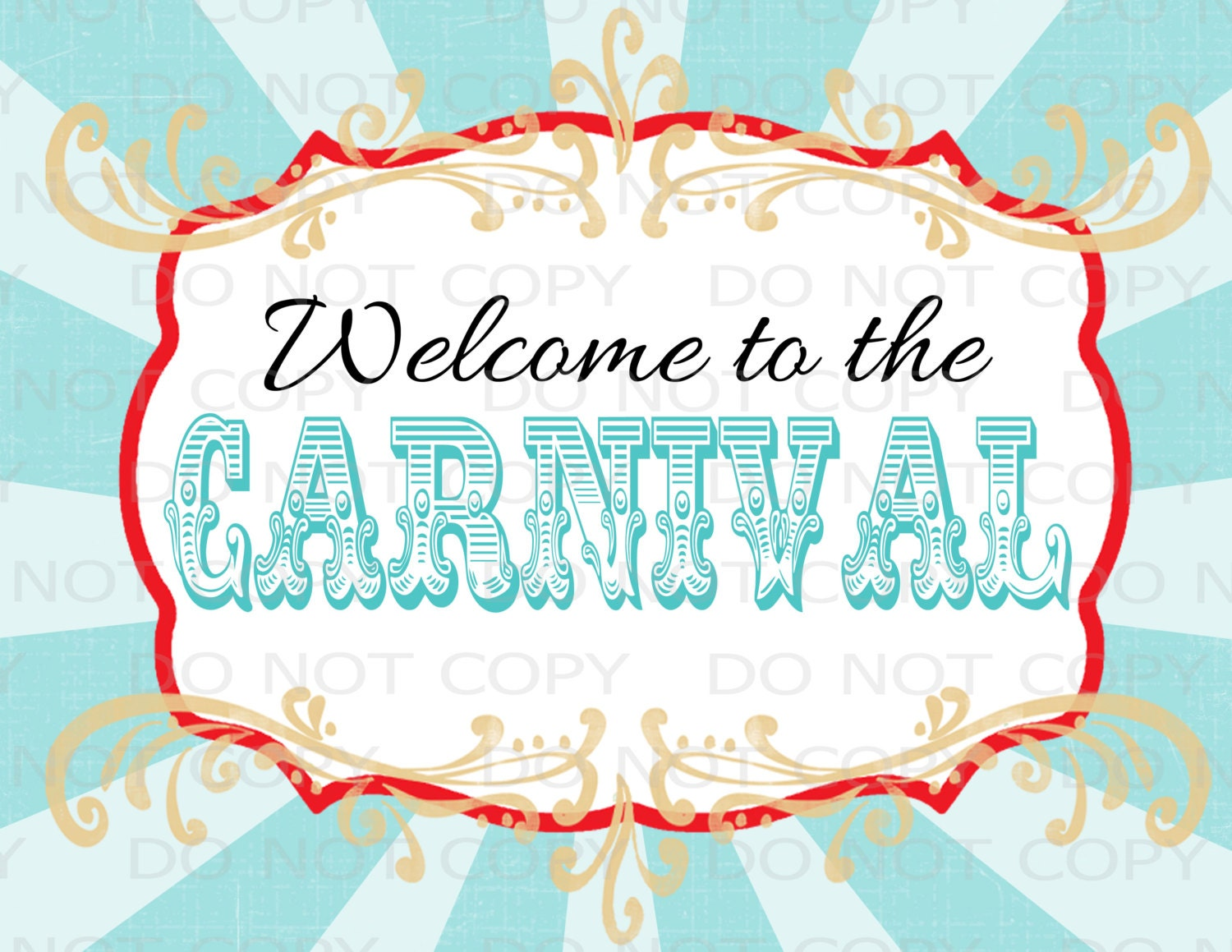 Printable DIY Vintage Circus Welcome To The Carnival Sign