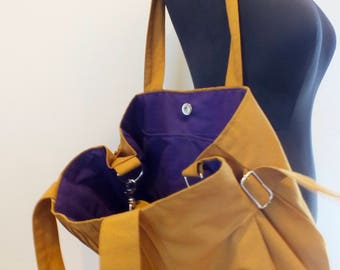 Canvas Lines Multi-Purpose Bag - Crossbody bag, Shoulder bag, Messenger bag, Tote, Travel bag, Women Handbags, clarity