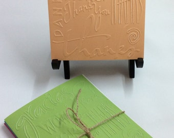 Embossed Set Thank You Card