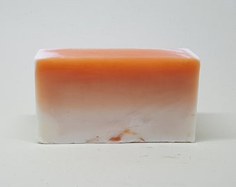 Blood Orange Soap - Ombre Soap - Bar Soap - Melt and Pour Soap - Citrus - Gifts for Him - Unique Scent - Father's Day - Gifts for Her