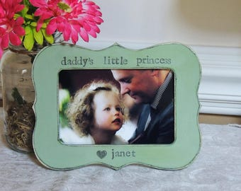 Daddy little Princess frame Fathers day gift dad papa daddy apa Personalized Custom photo picture frame daughter father bride wedding gift