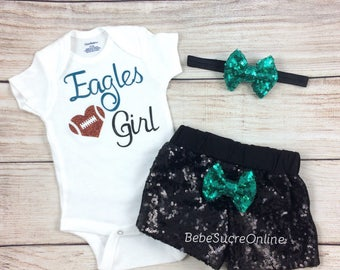 Philadelphia Eagles Baby Girl Game Day Outfit