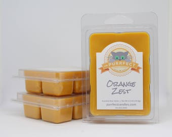 Orange Zest Scented Wax Melts - Orange Scented Wax Tarts - Orange Scented Wax Cubes - Orange Wax Melts - Citrus Wax Melts - Flameless Candle