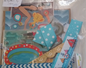 Kit paperbag album 15 x 15, 8 pages on the water theme, pool