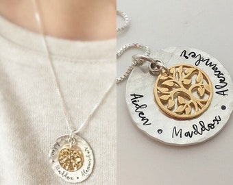 Mother's Day Gift for Mom - Family Tree Necklace - Personalized Gift for Mom - Personalized Necklace - Grandma Gift for Mother's Day