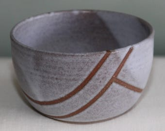 Line Series: Hazelnut & White Bowl