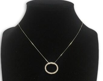14k diamond eternity necklace