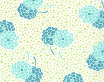 Aquatic Blue Green Small Floral Fabric - Moda - Simply Style
