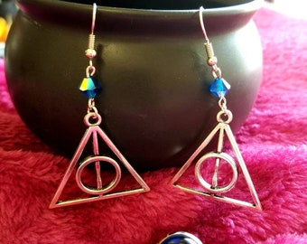 Deathly Hallows earring and ring set-Ravenclaw-